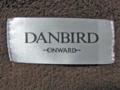 DANBIRD ショコラカラーのふっくらブランケット タグ部分拡大