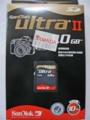 [SanDisk]UltraII SDカード1GB SDSDH-1024-903 パッケージ表