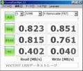 [CrystalDiskMark]WX320T + Kingston microSDカード SDC/1GBFE