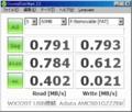 [CrystalDiskMark]WX320T + A-DATA AMCS001GZZZBK