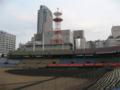 [広島市民球場]三塁側内野自由席から一塁側(基町クレド)方面