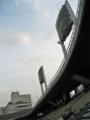 [広島市民球場]三塁側内野席からメルパルク方面