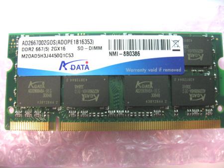 AD2667002GOS(ADOPE1B16353)DDR2 667(5)2GX16 SO-DIMM