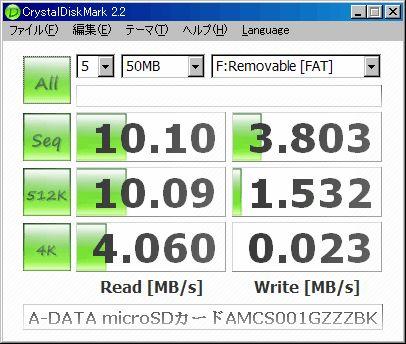A-DATA microSDカード AMCS001GZZZBK