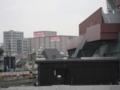 """[新広島市民球場][ビックカメラ]""""工事見学スペース2階""""からビックカメラベスト広島店を望む"""