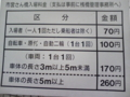 [広島市営桟橋]市営さん橋入場料金 立て札