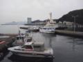 [広島市営桟橋]岸壁から南側 広島プリンスホテル方面を望む