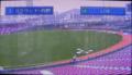 [新広島市民球場][工事見学スペース]モニター画面「グラウンド-外野」