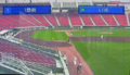 [新広島市民球場][工事見学スペース]モニター画面「1塁側」