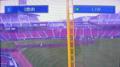 [新広島市民球場][工事見学スペース]モニター画面「3塁側」