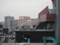[新広島市民球場][工事見学スペース]ビックカメラ ベスト広島店 を望む