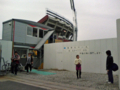 [新広島市民球場][工事見学スペース]名残を惜しむ人が結構いらっしゃいました