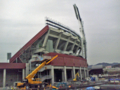 [新広島市民球場][工事見学スペース]2階からJR山陽線方面
