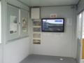 [新広島市民球場][工事見学スペース]新球場の中の様子を映してくれたテレビモニタ