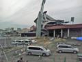 [新広島市民球場][工事見学スペース]2階からビックカメラベスト広島店方面
