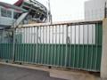 [新広島市民球場][工事見学スペース]柵で閉鎖されました