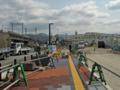 [新広島市民球場]球場北側 JR天神川駅方面を望む