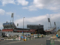 広島貨物ターミナル駅出入り口横から新球場を望む