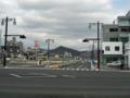 [段原蟹屋線]「比治山東雲線」の「段原山崎」交差点から平和橋方面を望む