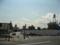 広島貨物ターミナル駅トラック出入口横から新球場東側道路を望む