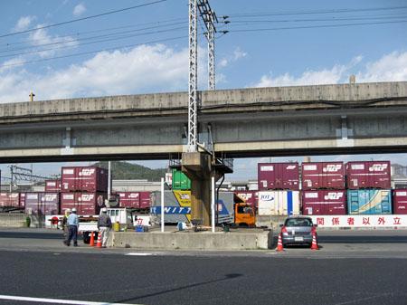 広島貨物ターミナル駅 トラック出入り口