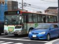 [芸陽バス]【広島200か・389】「球場前(西)」交差点付近にて撮影(左前方)