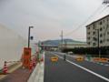 [新広島市民球場]東側、新設市道建設現場 南から広島貨物ターミナル駅方面を望む