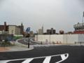 [新広島市民球場]広島貨物ターミナル駅トラック出入口横から東側の封鎖されている市道