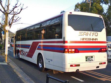 【広島200か12-09】「県立広島大学前」バス停にて撮影