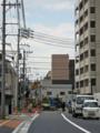 新球場東側市道建設「球場前(東)」交差点付近の工事を望む