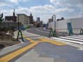 新球場東側市道建設現場北から「球場前(東)」交差点方面を望む