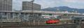 """[103系][EF67][700系レールスター](新)""""広島市民球場""""歩行者用スロープから東駅町 方面"""