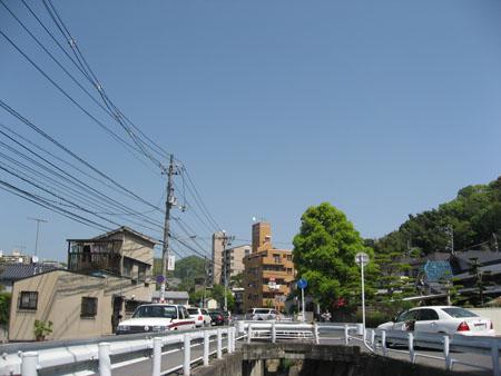 """""""第二櫻橋より上流の通路""""から上流方向を望む"""