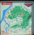 """[牛田山]東区自然発見マップ""""ハイキングコース案内板"""""""