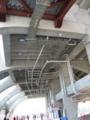 [新広島市民球場]高いところの配管はむき出し