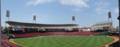 [新広島市民球場]スコアーボード一塁寄り付近から内野 方向を望む