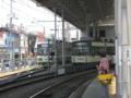 [広島電鉄3800形電車][広島電鉄3700形電車]3801編成(左)3703編成(右)