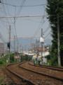 [廿日市]広島電鉄宮島線を歩く保線員さん