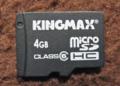 [KINGMAX]KM-MCSDHC6X4G カード表面
