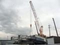 [広島高速3号線]橋桁建設中?