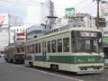 [広島電鉄750形電車][広島電鉄800形電車]772号車(左・奥)・805号車(右・手前)
