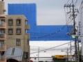 [商工センター]アルパーク東棟とテックランドの連絡歩道橋から南を望む
