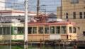 [広島電鉄3100形電車][広島電鉄2000形電車]3103編成(左)・2007号車(右)