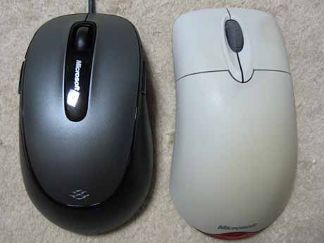Comfort Mouse 4500(左),Wheel Mouse Optical(右)