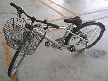 自転車店で借りたスポーツタイプの七段変速機付き代車