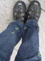 植物の種だらけのジーンズ