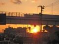 [広島高速2号線]夕日