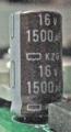 [日本ケミコン]16V1500μF KZG