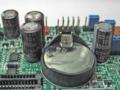 リチウム電池「CR2032」付近