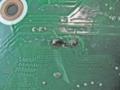 マザーボード キャパシタ交換修理直後のハンダ面